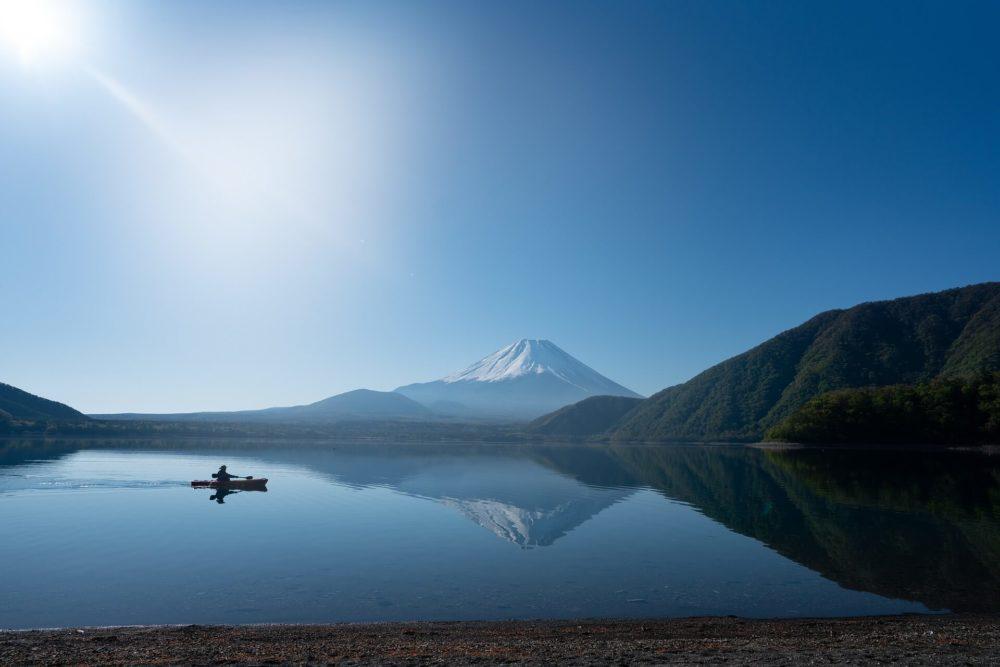 富士山と本栖湖
