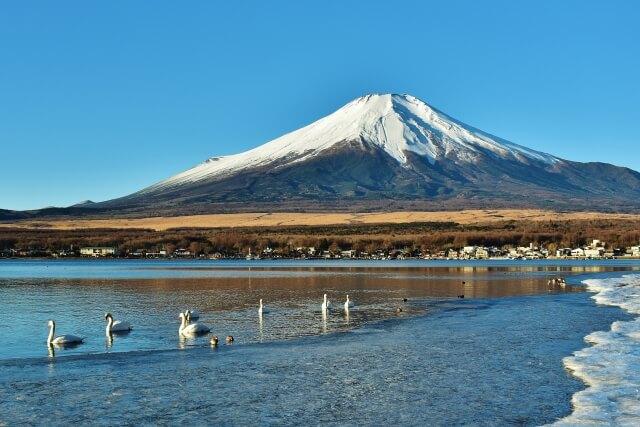 山梨県富士山と山中湖
