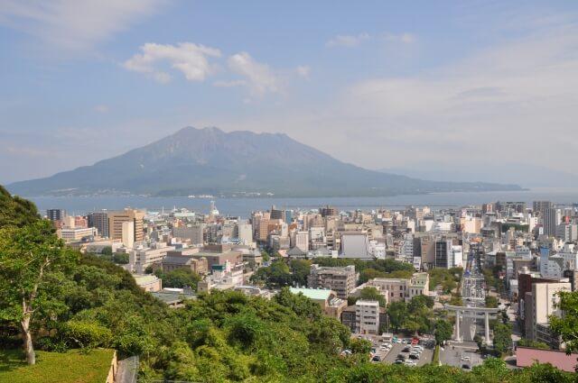 鹿児島市と桜島