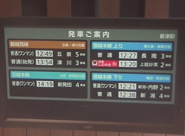JR新津駅