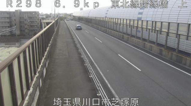 国道298号JR東北線跨線橋