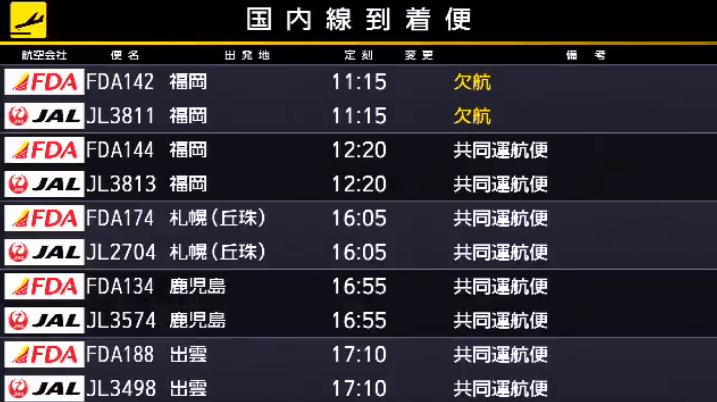静岡空港案内板