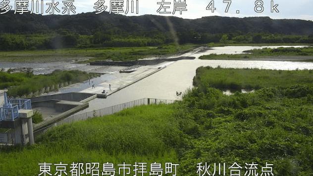 多摩川秋川合流点