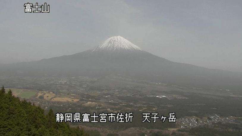 天子ヶ岳富士山